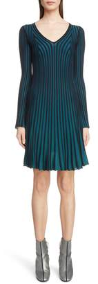 Kenzo Pleated Sweater Dress