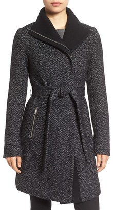 Women's Tahari 'Eva' Belted Tweed Jacket $198 thestylecure.com