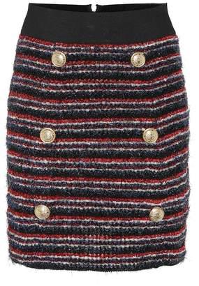 Balmain Boucle miniskirt