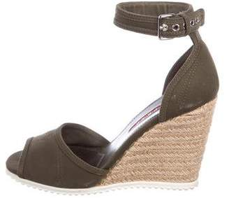 Prada Sport Canvas Espadrille Wedges