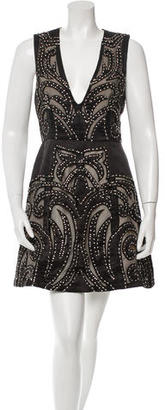 Alice + Olivia Rhinestone-Embellished Mini Dress $145 thestylecure.com