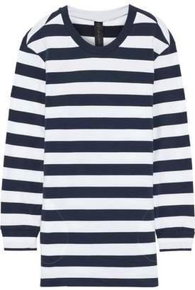 Norma Kamali Boyfriend Striped French Cotton-blend Terry Sweatshirt