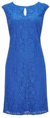 Wallis Blue Lace Shift Dress