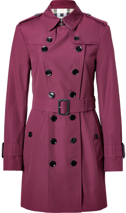 Burberry Boysenberry Technical Cotton-Blend Queensbury Trench Coat