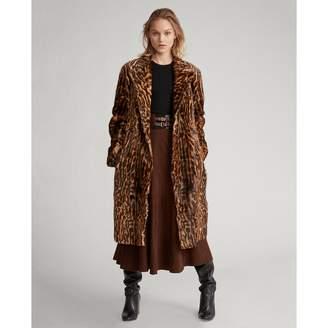 Ralph Lauren Leopard-Print Haircalf Coat