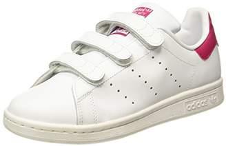brand new fc5d4 3dcbc adidas Unisex Kids Stan Smith CF Gymnastics Shoes, Footwear WhiteBold  Pink 0
