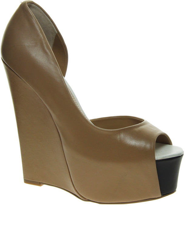 Carvela Grant Cut Out Platform Wedges