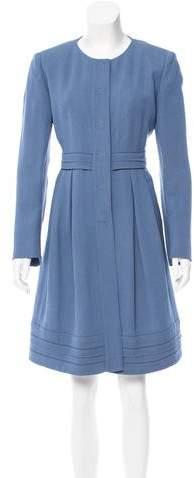 Fendi Silk & Wool-Blend Coat
