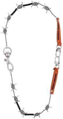 Heron Preston barbwire design necklace