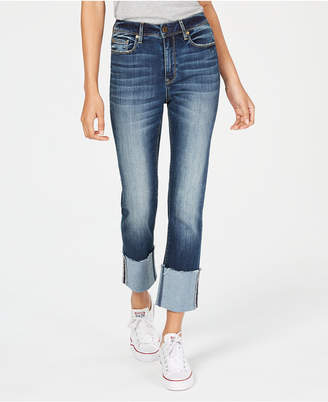 American Rag Juniors' High-Rise Slim Straight-Leg Jeans, Created for Macy's