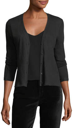 Majestic Knit V-Neck Cashmere Cardigan