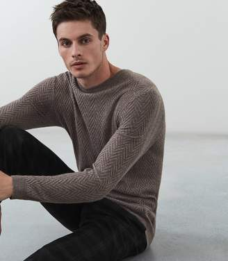 Reiss Avons Chevron Cable Knit Jumper