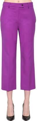 Calvin Klein Cropped Stretch Wool Blend Pants