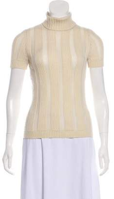 Celine Short Sleeve Turtleneck Sweater