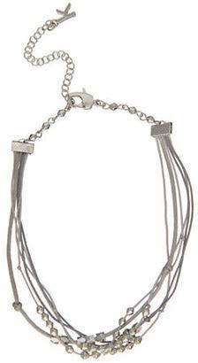 Kensie Lace Multi Chain Silvertone Necklace $24 thestylecure.com