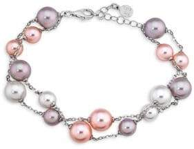 Majorica Quimera Two-Tone Hancrafted Pearl Double-Strand Bracelet