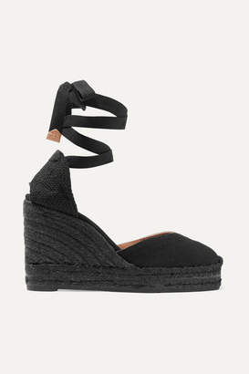 Castaner Chiara Canvas Wedge Espadrilles - Black