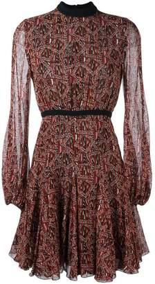 Giambattista Valli abstract print longsleeved dress