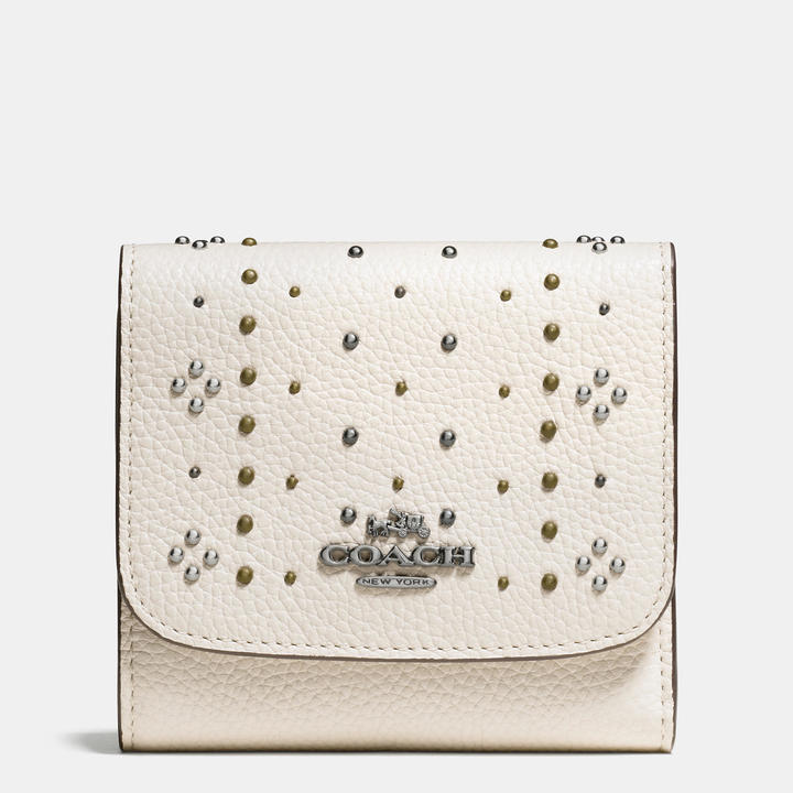 Coach   COACH Coach Small Wallet With Bandana Rivets