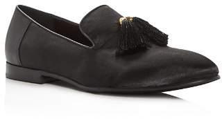 Tallia Men's Eduardo Satin & Leather Smoking Slippers