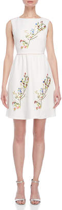 Blugirl Embroidered Sleeveless Flared Dress
