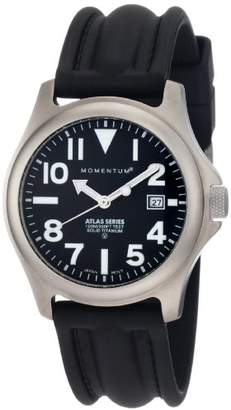 Momentum Men's 1M-SP00B1 Atlas Titanium Watch with Black Band
