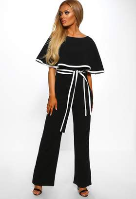 03d61f6ccf3 Pink Boutique Hold Your Own Black Double Layer Wide Leg Jumpsuit