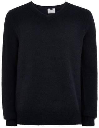 Topman Mens Navy V Neck Sweater