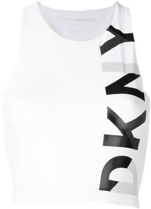 Donna Karan logo print tank top