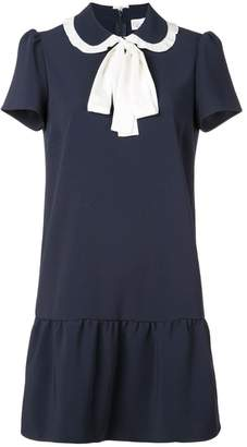 RED Valentino tied collar mini dress