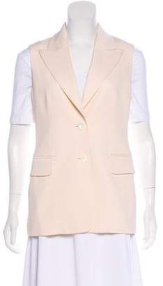 Michael Kors Wool Peak-Lapel Vest
