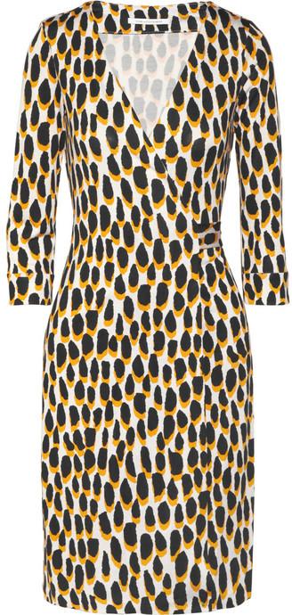 Diane von Furstenberg Julian leopard-print silk-jersey wrap dress