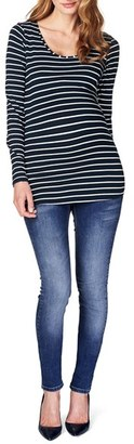 Women's Noppies 'Lely' Stripe Scoop Neck Long Sleeve Tee $59.99 thestylecure.com