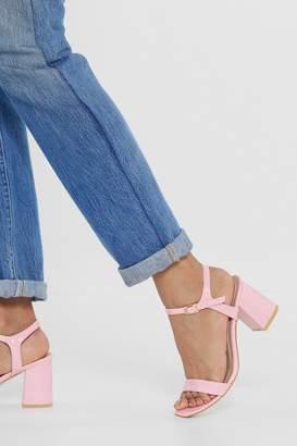 Nasty Gal Patent Minded Low Heel Sandals