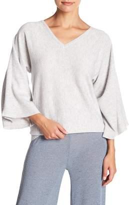 Fate V-Neck 3\u002F4 Sleeve Knit Sweater