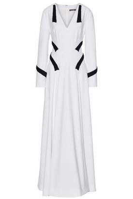 Zac Posen Ribbon-Trimmed Cady Gown
