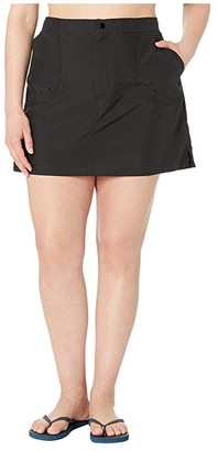 Maxine Of Hollywood Swimwear Plus Size Solids Woven Boardskirt