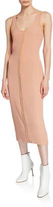 Thierry Mugler Hook-Front Sleeveless Tank Dress