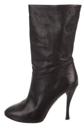 Tabitha Simmons Round-Toe Ankle Boots