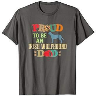 Irish Wolfhound Gifts Proud Dad Irish Wolfhound Shirt