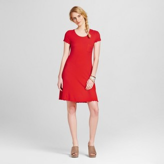 Mossimo Supply Co. Women's Knit Ruffle T-Shirt Dress - Mossimo Supply Co. Red $19.99 thestylecure.com