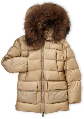ADD Boys 8-20) Real Fur Trim Down Parka