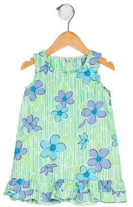 Lilly Pulitzer Girls' Sleeveless Floral Print Dress