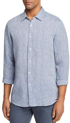 Michael Kors Cross Dye Linen Long Sleeve Button-Down Shirt