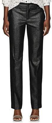 Pt01 Women's Francy Wool-Blend Lamé Straight Trousers - Silver