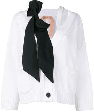 No.21 bow knitted cardigan