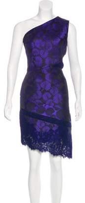 J. Mendel Lace-Paneled Jacquard Dress