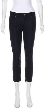 Gucci Low-Rise Leather-Trimmed Jeans