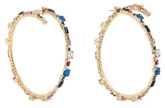 Valentino Crystal Hoop Earrings - Womens - Multi