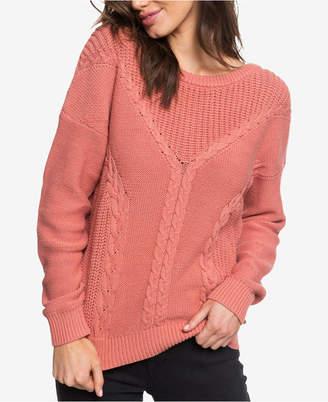 Roxy Juniors' Gilis Sunlight Mixed-Knit Sweater